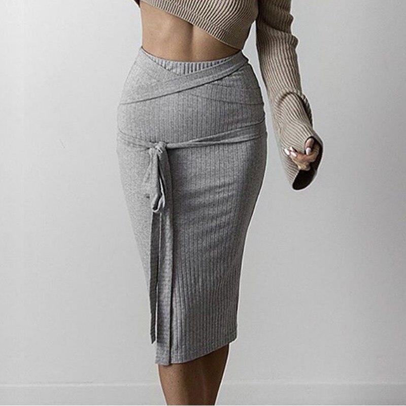 Popular Knit Belt Skirt High Waist-Buy Cheap Knit Belt Skirt High ...
