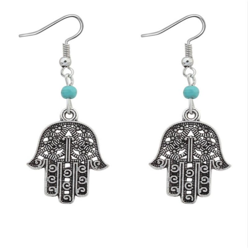 ROSE LIFE Fashion Palm Earrings Retro Imitation Pine Stone Earrings Lady Earrings Jewlery Accessories Sieraden Costume Jewelery