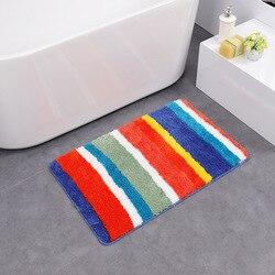 Arcobaleno striscia di anti slittamento tappeto bagno assorbimento di acqua tappeto per la decorazione camera da letto in microfibra tappetino da bagno tapetes para bano DW015