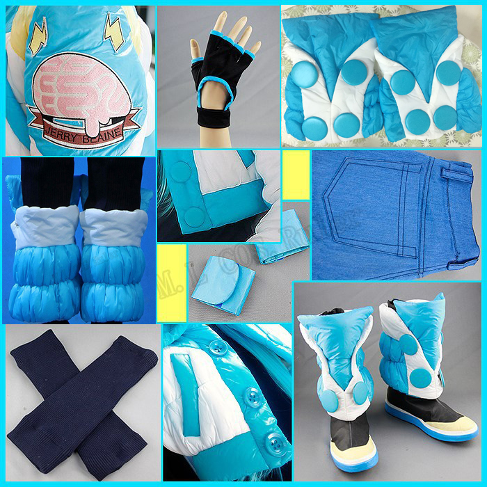 Hot Anime COS Dramatical Murder DMMD Seragaki Aoba Cosplay Costume Full Set Wig Shoes Suit Customize