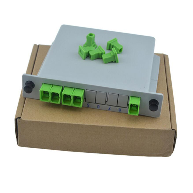 10 PCS/ Lot SC APC PLC 1X4 Splitter Fiber Optical Box FTTH PLC Splitter Box With 1X4 Planar Waveguide Type Optical Splitter