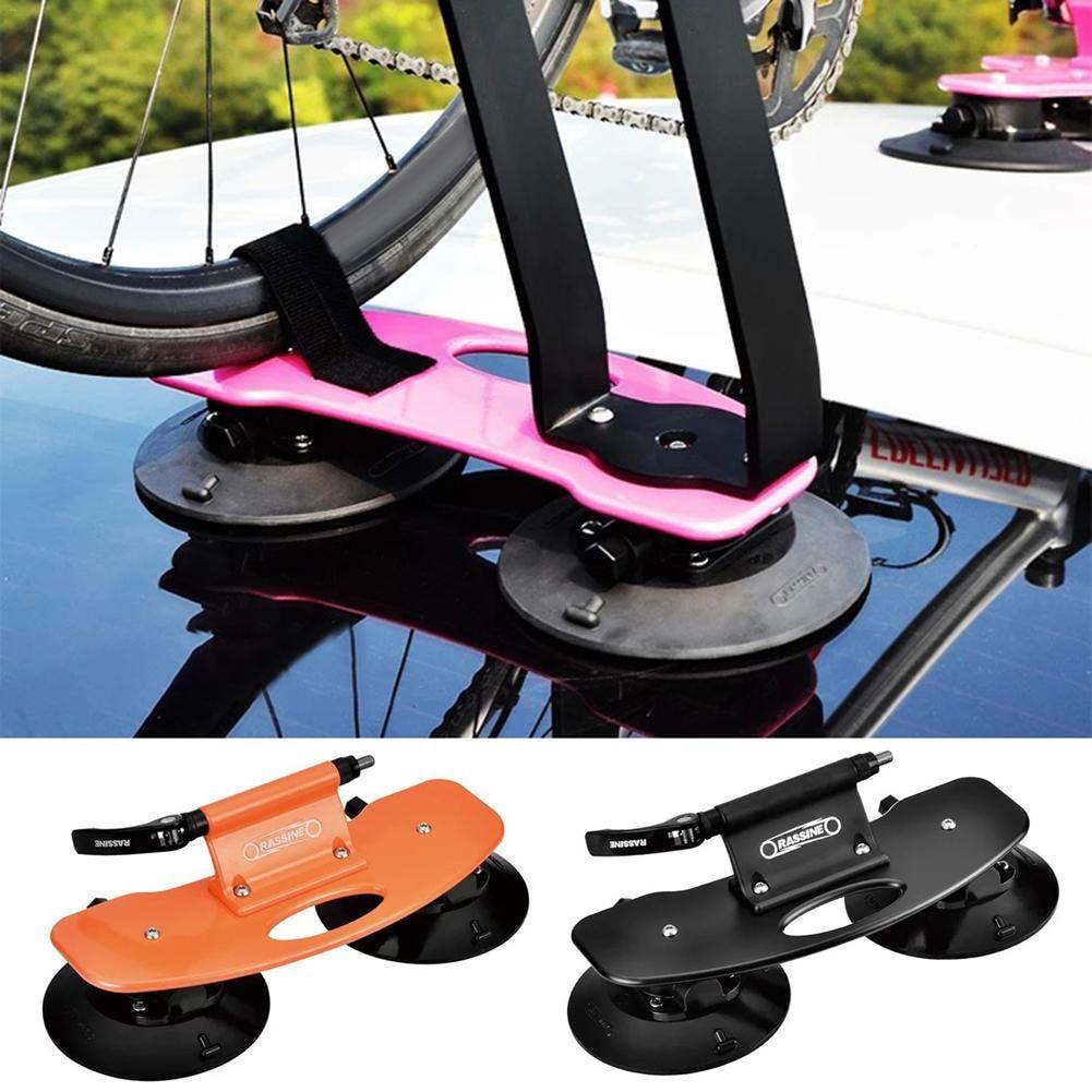 2 pc support de toit de voiture Portable ventouse support de vélo Installation rapide ventouse pour vtt support de vélo de route de montagne support de vélo