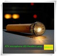 KTV microphone LED Pendant Lamps Indoor Lighting chandelier lights warm white198mm*57mm AC110V 240V
