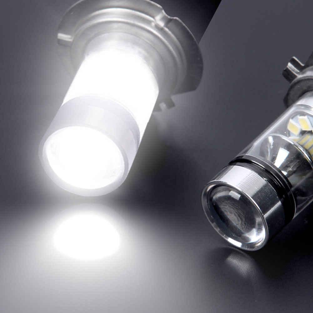1 Paar High Power Led H7 Lamp 100W 20LED Auto Mistlamp Lamp Koplampen 6000K Wit