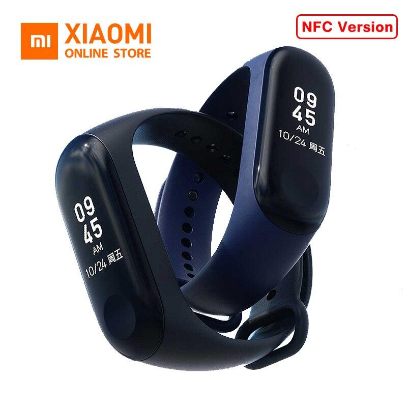 Оригинальный Xiaomi mi группа 3 NFC версия Смарт Браслет mi Группа 3 OLED Дисплей mi Группа 3 Фитнес трекер Водонепроницаемый