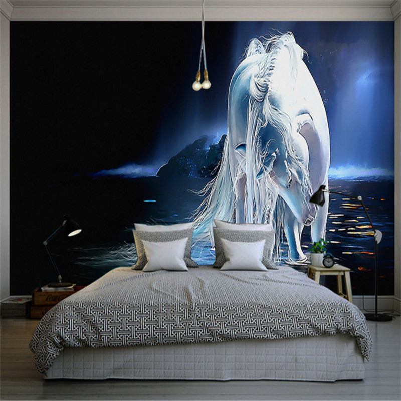 custom any size 3d photo non-woven wallpaper wall murals 3d wallpaper white horse oil painting background wall home decor 3d wallpaper custom mural non woven 3d room wallpaper black and white circle line 3 d painting photo 3d wall murals wallpaper