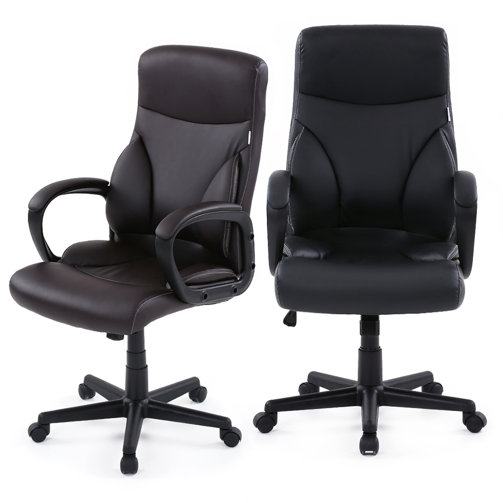 ikayaa us stock dxracer pu leather adjustable swivel office executive chair stool high back computer chair task office furniture in office chairs from
