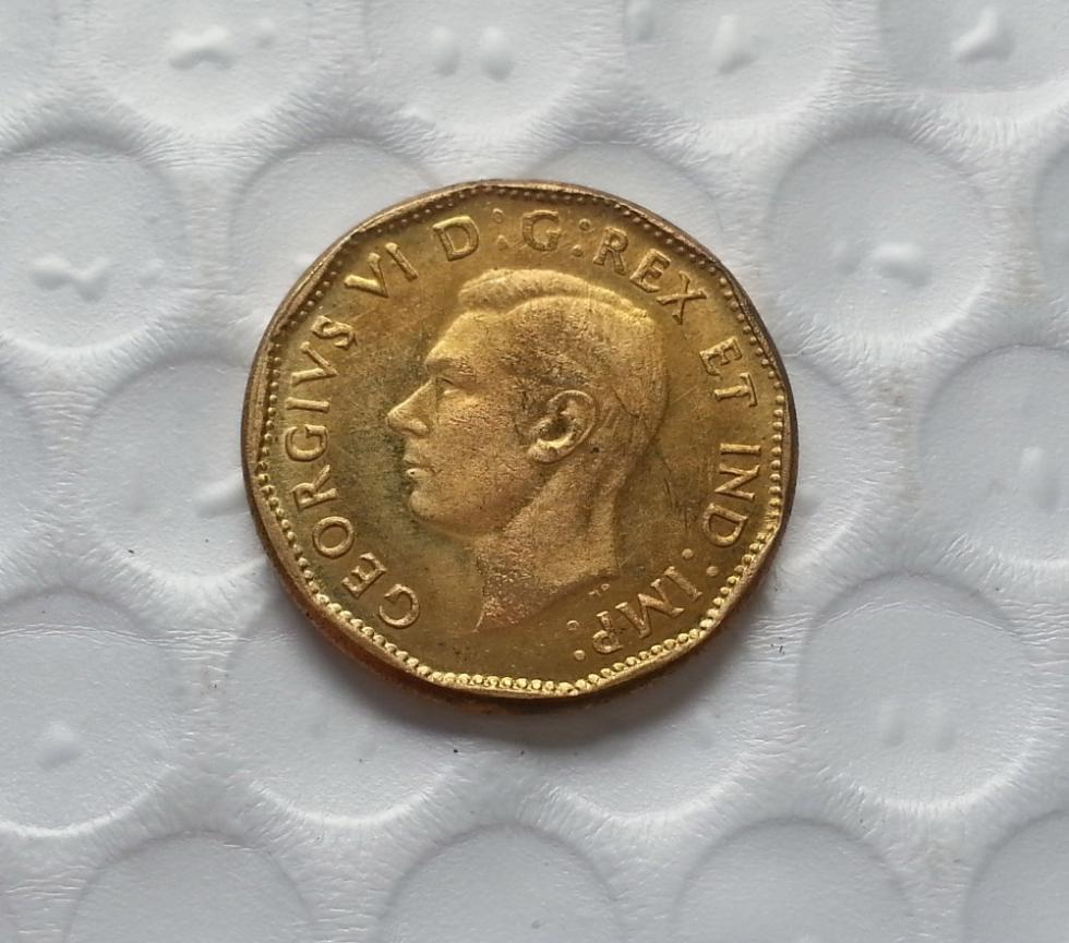 1944 Canada 1 Cent Half Dollar Copy