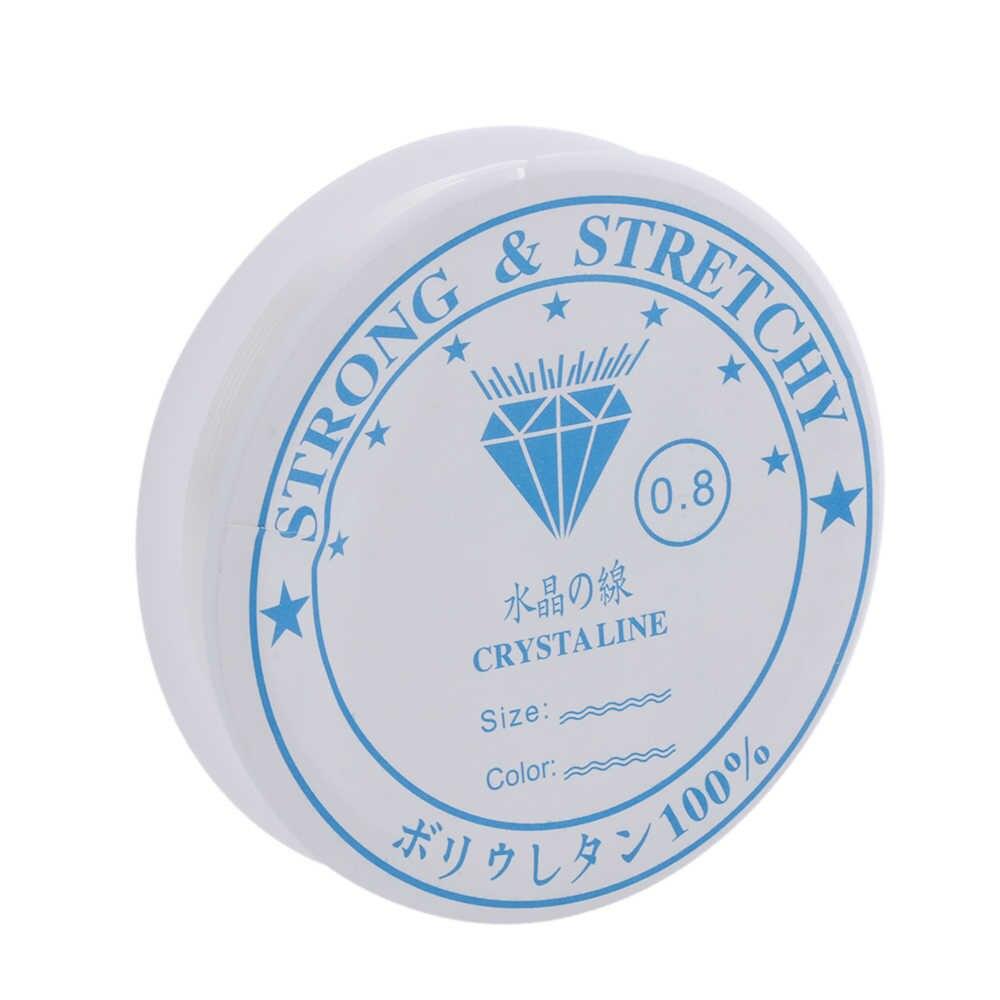 1 pc คริสตัลประดับด้วยลูกปัดสายสีขาว String สำหรับ DIY สร้อยคอสร้อยข้อมือเครื่องประดับหินอุปกรณ์ตกแต่งเครื่องมือ