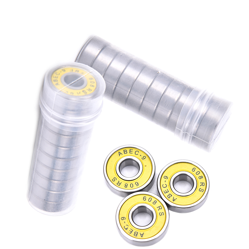 10 Pcs Red ABEC 9 Stainless Steel Bearings High Performance Roller Skate Scooter Skateboard Wheel 1pcs 71901 71901cd p4 7901 12x24x6 mochu thin walled miniature angular contact bearings speed spindle bearings cnc abec 7