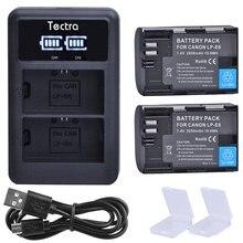 2Pcs 2650mAh LP-E6 LP-E6N Baterry+LED USB Dual Charger for Canon EOS 5D Mark II Mark III 6D 7D 60D 60Da 70D LPE6 LPE6N Battery