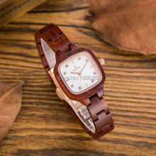 2017 hot sell Ladies Fashion Casual Wrist Watch Women Wood Watches Elegant quartz-watch Relogio Feminino Clock Luxury Wood Watch