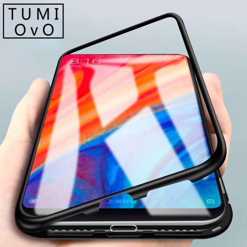 360 магнитный чехол для телефона для Xiao mi Pocophone F1 mi 8 SE A2 закаленное Стекло задняя Мане для Red mi Примечание 5 6 iPad Pro 6A
