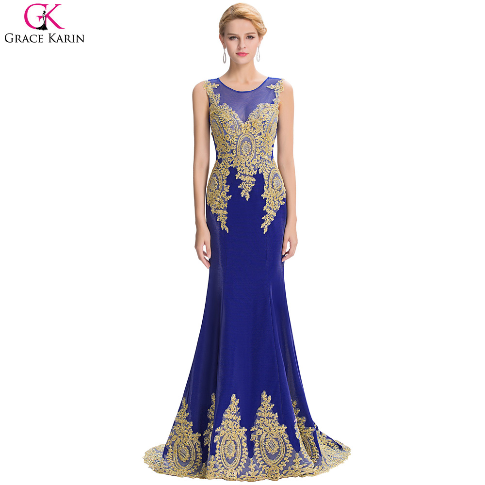 Online Get Cheap Gold and Blue Evening Gowns -Aliexpress.com ...