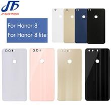 5 stks/partij achter Glas Behuizing Cover Vervanging Voor HUAWEI Voor Honor 8 lite Back Deur Hard Batterij case + sticker