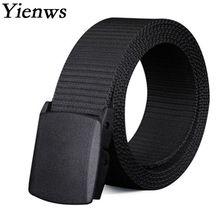 Yienws Mens Plus tamaño cinturones 150 cm negro cinturones de lona para los  hombres 200 cm 34d7aaa52beb