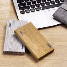 Original HOCO Special Wooden Color 13000mAh Power Bank Mobile Powerbank Universal Charger External Power Supply Battery 2 USB