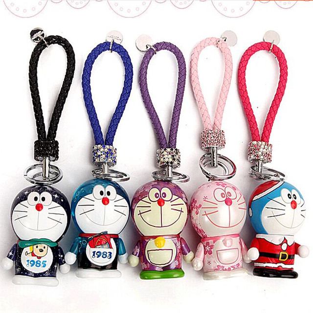 2015 New Cute cartoon Doraemon high-grade car key bell La A dream female creative key chain key pendant