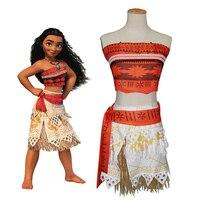 Kids Moana Costume Polynesia Princess Moana Cosplay Costume Hawaii Hula Skirt Adult Women Child Girls Halloween