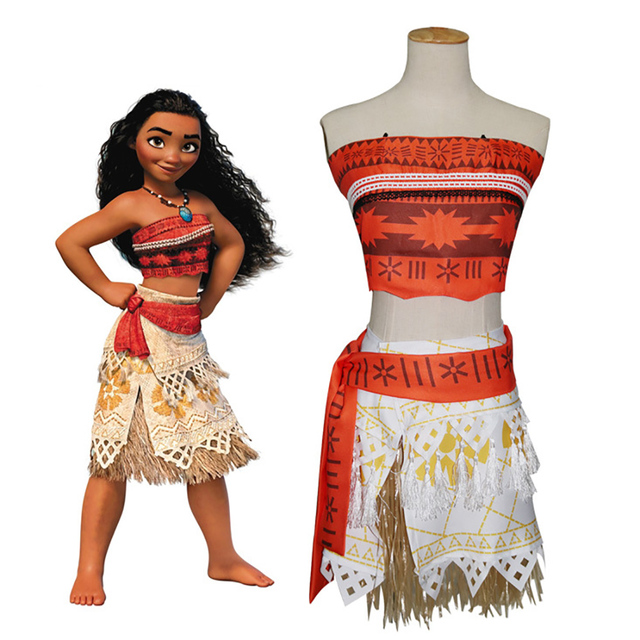 Kids Moana Costume Polynesia Princess Moana Cosplay Costume Hawaii Hula Skirt Adult Women/Child Girls  sc 1 st  AliExpress.com & Kids Moana Costume Polynesia Princess Moana Cosplay Costume Hawaii ...