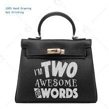 5735fbb9613f Women bags handbags Luxury Genuine Leather totes women s Fun Bags Custom  Gift Print funny idea letters