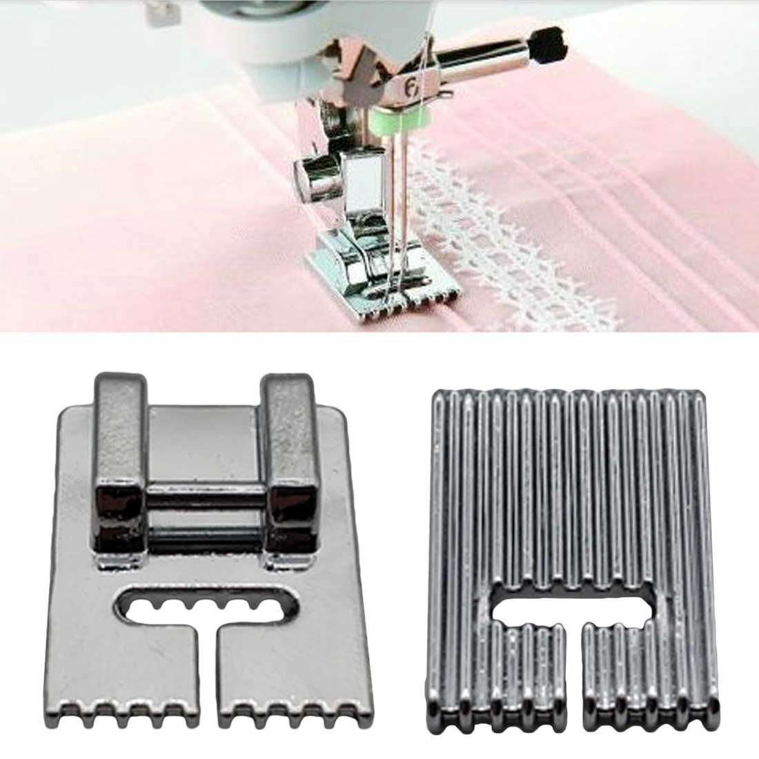 Household Sewing 5/7/9 Grooves Sewing Machine Foot Making Pleat Tank Presser Feet For Machine Accessories