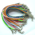 50pcs Braided Necklace pu Leather Cord With Lobster Clasp Mix Weave String Jewelry Accessories  Materials To Make Necklaces NC7