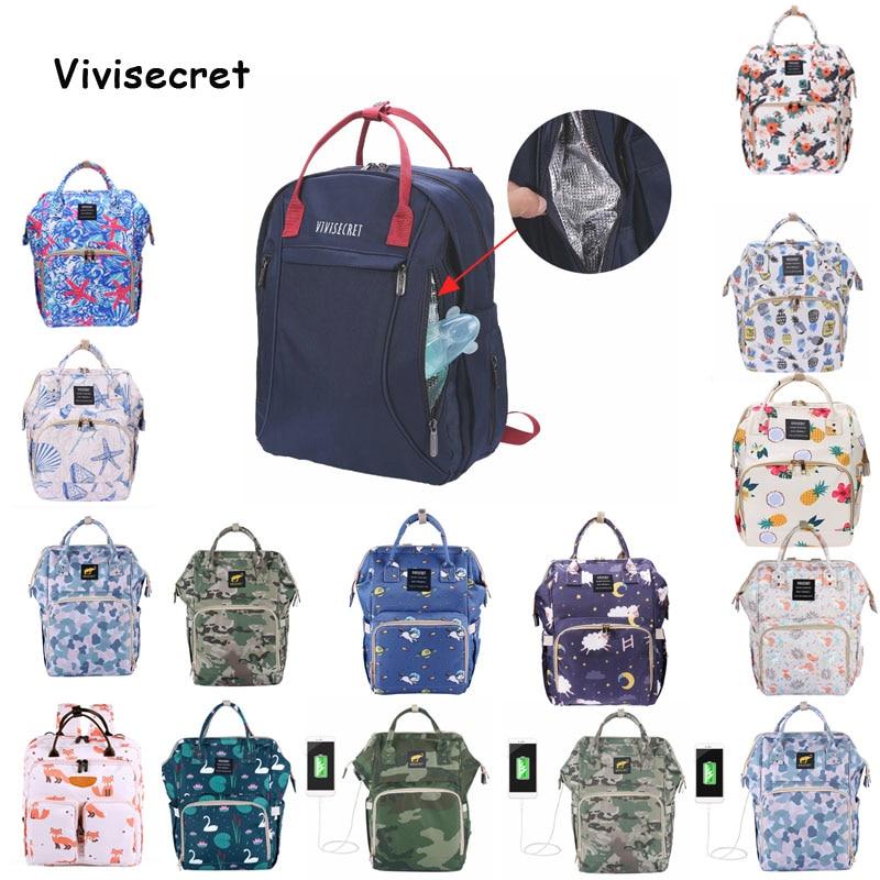 Vivisecret Maternity Waterproof Nursing Backpack Large Capacity Mummy Baby Diaper Bag Bag Designer Nursing Bag