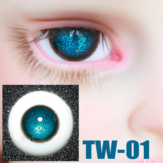 <font><b>BJD</b></font> doll <font><b>eyes</b></font> Crystal blue Shining no pupil <font><b>eyes</b></font> for <font><b>1/3</b></font> 1/4 1/6 <font><b>BJD</b></font> SD DD doll 14mm 16mm Glass eyeballs doll accessories TW-01 image