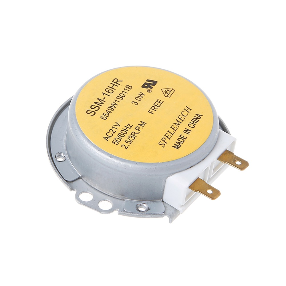 Microwave Oven Turntable Synchronous Motor SSM-16HR 21V 3W 50/60Hz For LG For Fan Warm Air Blower Electric Heaters Burn Oven