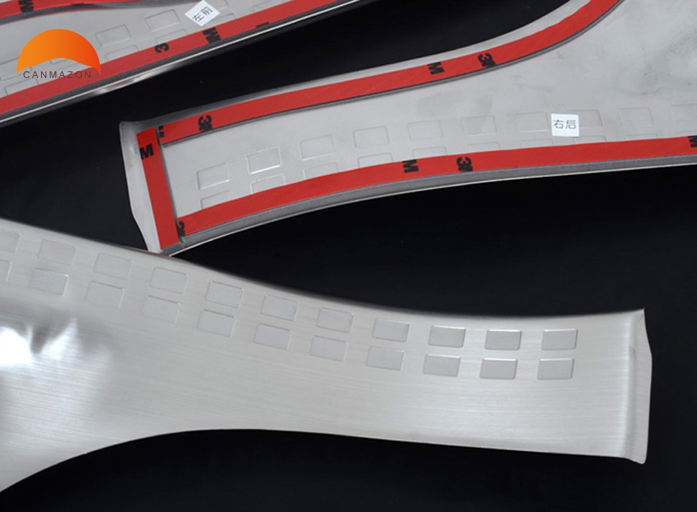 For Mitsubish ASX Outlander Sport RVR 2011 2012 2013 2014 2015 Stainless Steel Side Inner moulding Door Sill Scuff Plate sticker