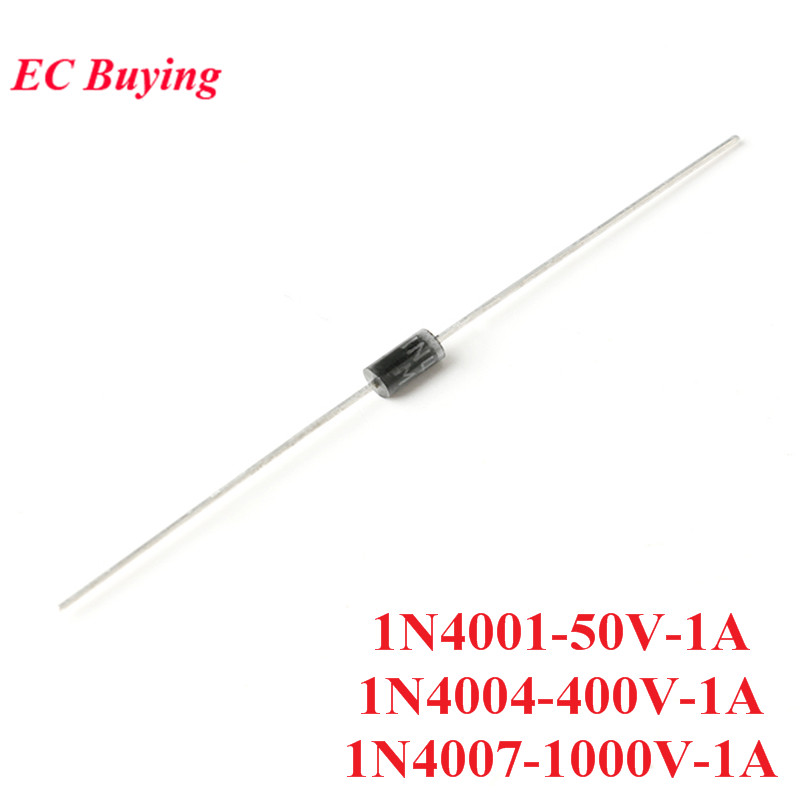 50pcs 1N4001 1N4004 <font><b>1N4007</b></font> DO-41 AMP <font><b>Diode</b></font> Rectifier Silicon Bridge Rectifier 50V 400V 1000V 1A image