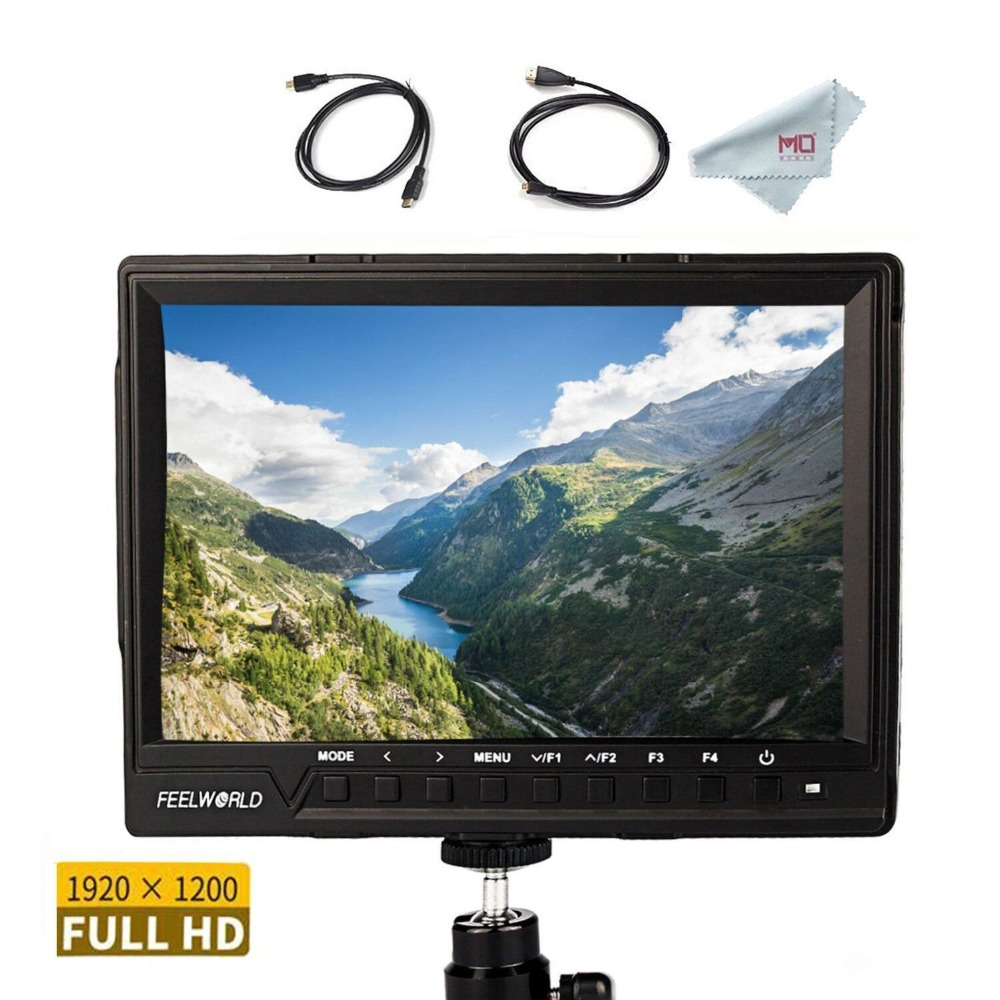 Feelworld FW760 7 Inch Full HD On-Camera LCD Monitor 4K HDMI Input DC Power Output with Histogram for DSLR Mirrorless Camera