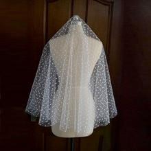 Elegant White 1.5M Spot Wedding Veils 2016 Formal Women Church Bridal Veils Wedding Accessories velos de novia voile mariage V99