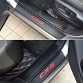 PU  leather Carbon fiber Door Sill Scuff Plate For mazda CX-5 CX5 2014 2015