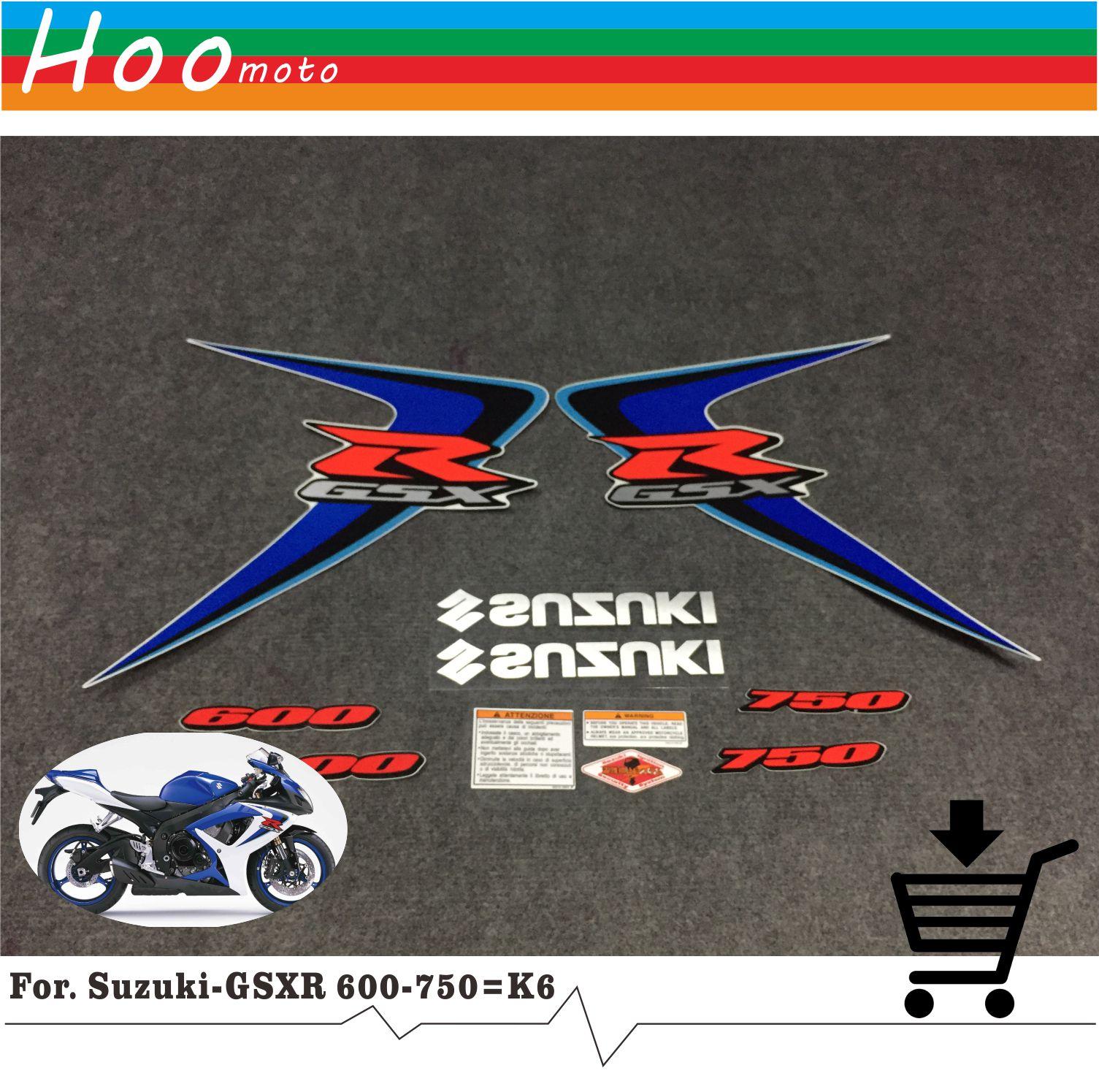 Новый для Suzuki GSXR GSX-R GSX R 600 K6 2006 мото Высокое качество наклейки Стикеры мотоциклетные автомобиль-Стайлинг Стикеры s более K6 K8 K11 K7
