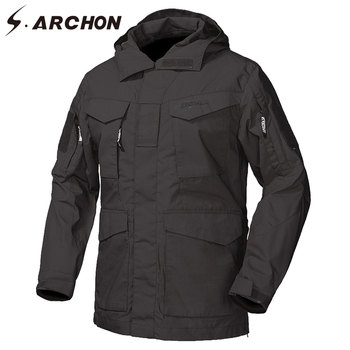 S.ARCHON M65 Waterproof Military Field Jackets Men Autumn Windbreaker Tactical Pilot Jacket US Army Flight Outerwear Trench Coat