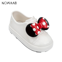 Mini Melissa Mickey Ear Bow Boy Girl Sandals 2019 New Jelly Sandals Kids Sandals Children Beach Shoes Non slip Toddler Shoes