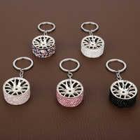 Dongsheng BBS Felge Schlüsselbund Luxus metall Auto Keychain kreative rad hub kette Auto Schlüsselring Für Mann Frauen Geschenk-15
