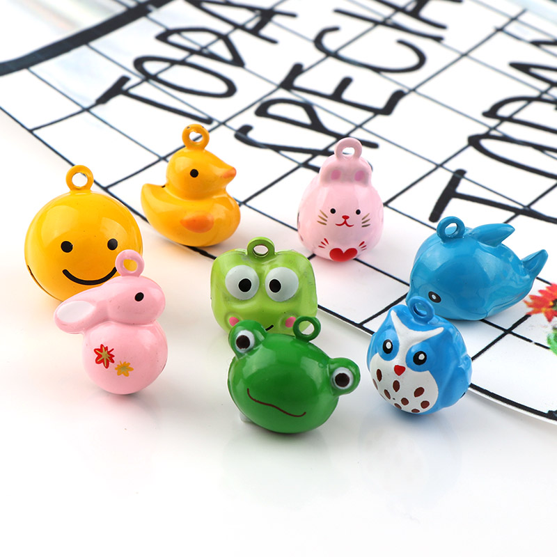 Mix Cute Mini  Cat Fish Duck Rabbit Metal Jingle Bells Loose Beads Festival Party Decoration/Pet Bell/DIY Crafts Accessories