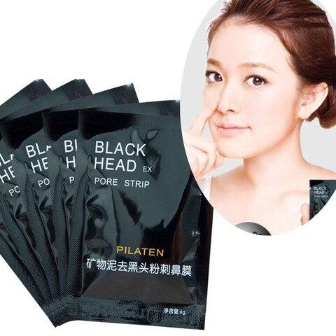 100 pcs lote pilaten face care nariz facial removedor de cravo mascara minerais poros limpador