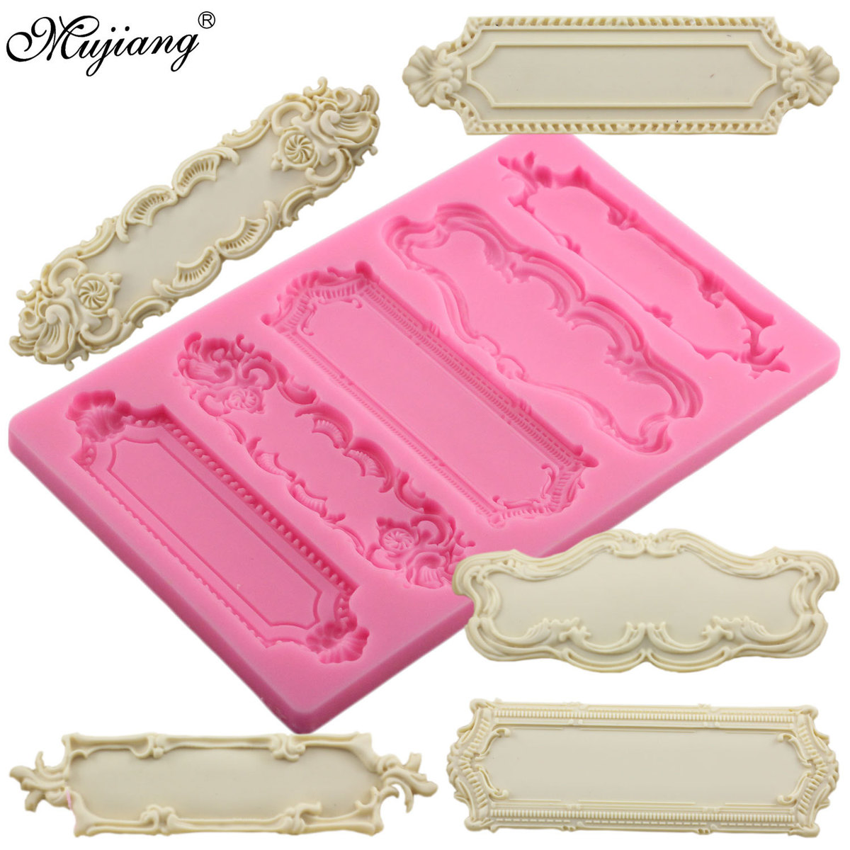 Pottery & Ceramics Baroque Scrolls Cake Border Silicone Flower Vine Fondant Cake Decorating Tools Cupcake Chocolate Gum Paste Clay Candy Molds Cleaning The Oral Cavity.