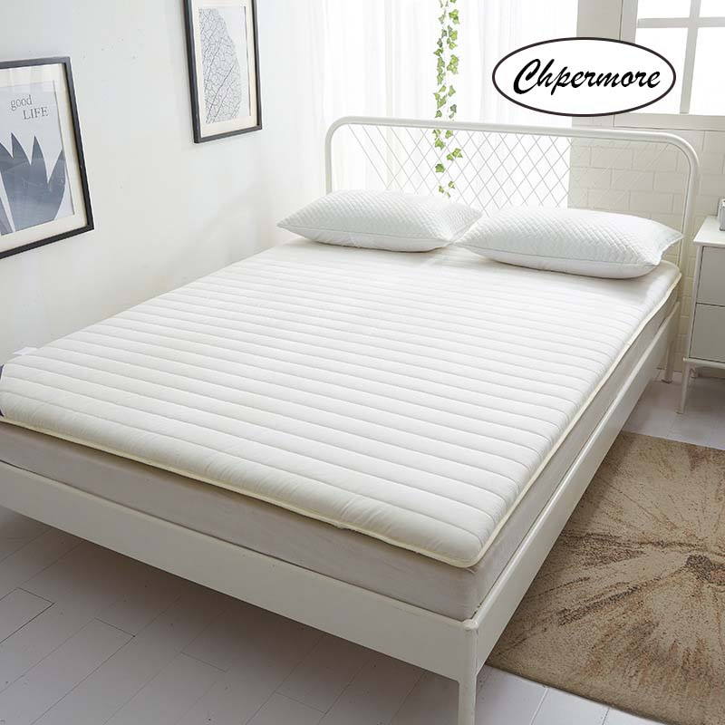 Chpermore Solid Color Thicken Mattress Keep Warm Tatami Foldable Mattresses Bedspreads King Queen Twin Size