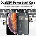 Для iPhone 6/7/8 plus/X Новый ультратонкий Bluetooth Dual SIM Dual Standby Adaper длительное время ожидания 7 дней с 1500/2500 mAh Power Bank