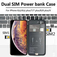For iPhone 6/7/8 plus/X New Ultrathin Bluetooth Dual SIM Dual Standby Adaper Long Standby 7days with 1500/2500 mAh Power Bank