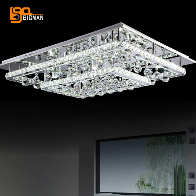 Aliexpresscom Buy new flush mount LED crystal chandeliers