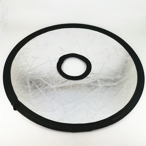 Image 2 - 30 см 2 в 1 золотой и серебряный складной светлый круглый полый отражатель для фотосъемки для студии фото камера