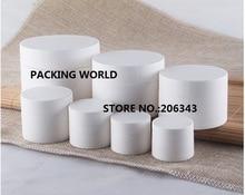 10G blanco esmerilado de plástico tarro de crema para los ojos/crema muestra/essence/nail art maceta de plástico cosmético embalaje