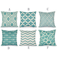 Hand Washable or Wash in Cold Water 6PC/Set Fashion Home Decorative Pillowcase Cotton Linen Sofa Cushion Throw Pillow Cover L430