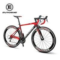 700C Road Bike Full Carbon Fiber 50cm Frame Complete Racing Bicycle 16 Speed Shimano Claris 2400